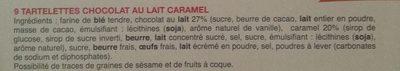 Tartelettes Chocolat Caramel - Ingrediënten