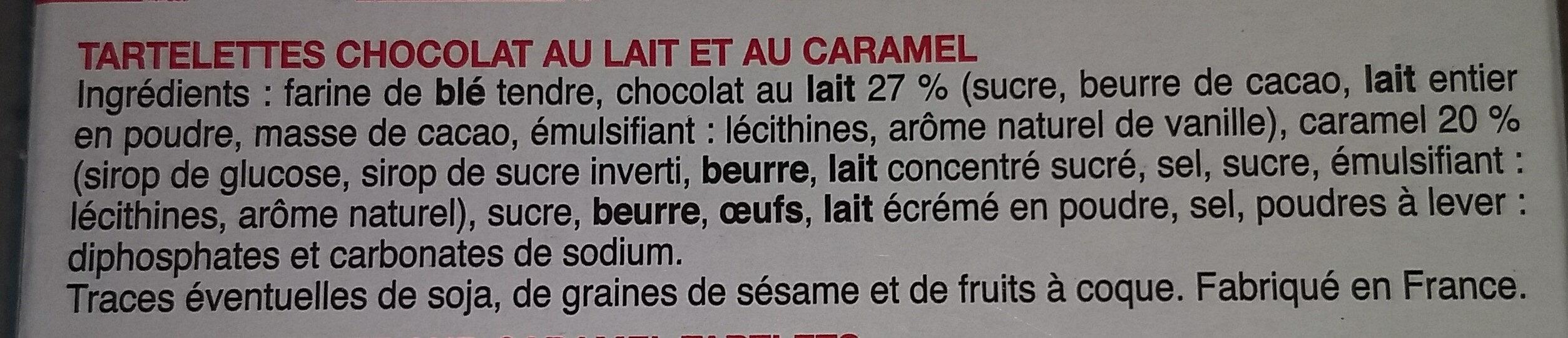 Tartelettes choco caramel - Ingrédients - fr