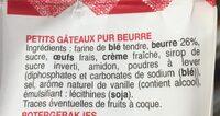 Petits muffins au beurre frais - Zutaten - fr
