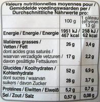 Petits muffins au beurre frais - Nährwertangaben - fr