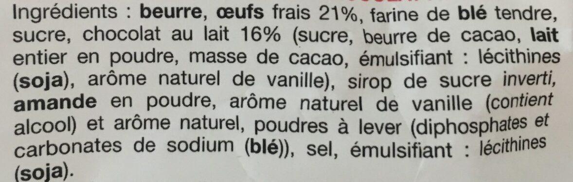La madeleine chocolat au lait. - Ingrediënten - fr