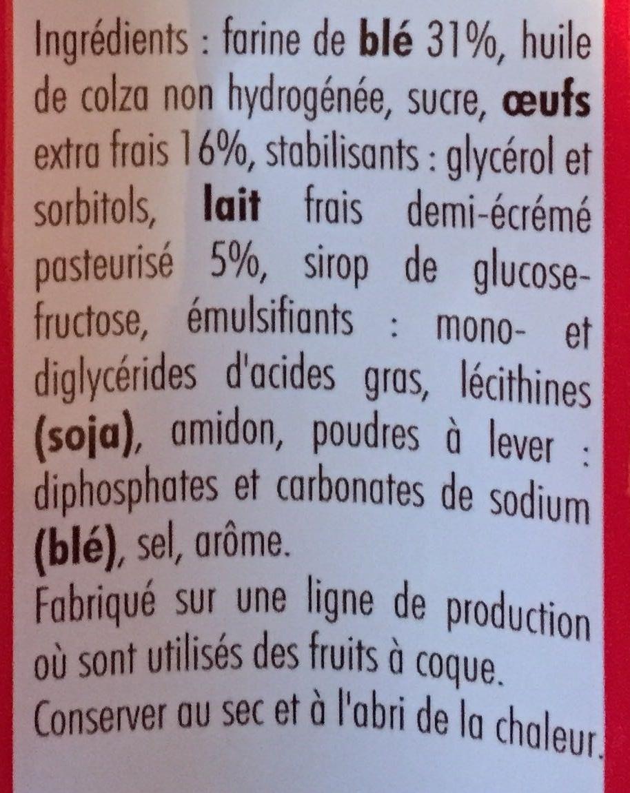Madeleines Longues - Ingredients