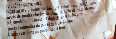 12 crêpes bretonnes - Ingrediënten - fr
