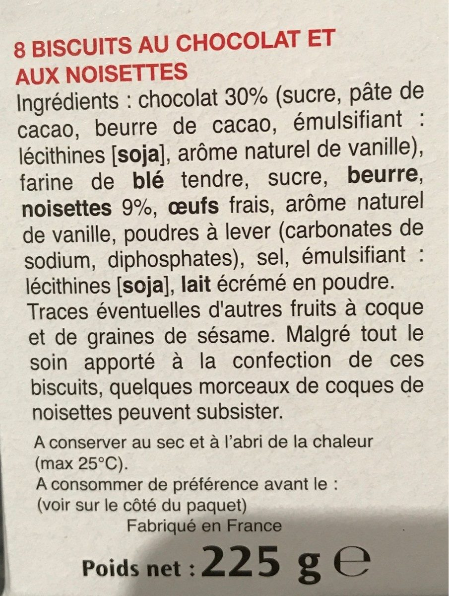 Bonne maman cookies - Ingredienti - fr