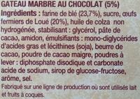 Le Marbré de Poulette - Ingrediënten