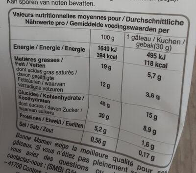 petit cake aux fruits - Пищевая и энергетическая ценность - fr