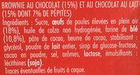 Brownie au chocolat - Ingrédients - fr