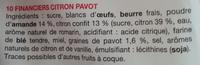 Financiers citron pavot - Ingrediënten - fr