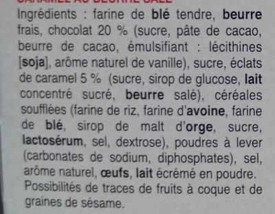 Cookies Caramel au beurre salé aux gros éclats de chocolat - Ingredienti - fr
