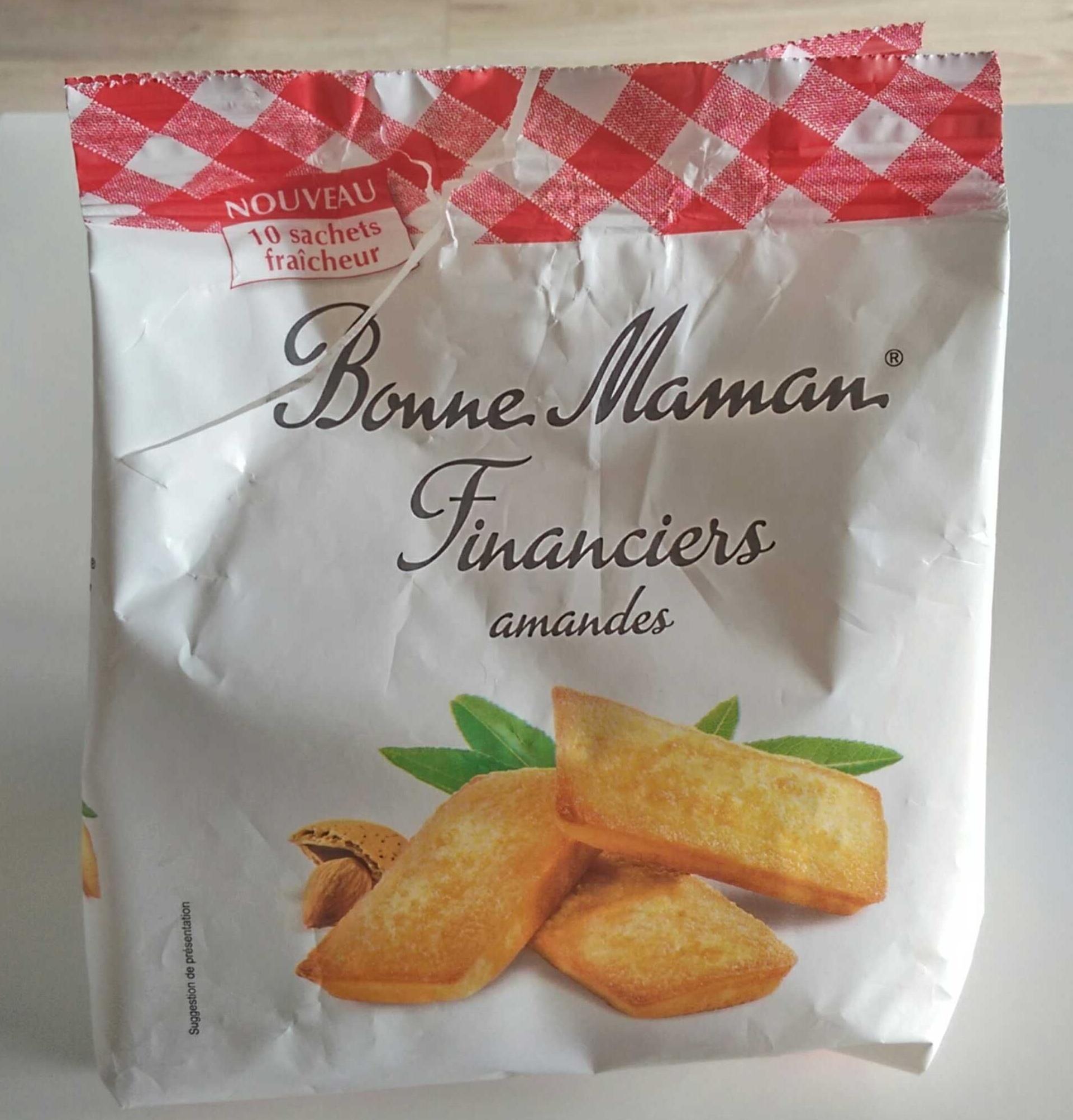 Financiers Amandes - Produit - fr