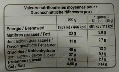 Financiers Amandes - Informations nutritionnelles - fr