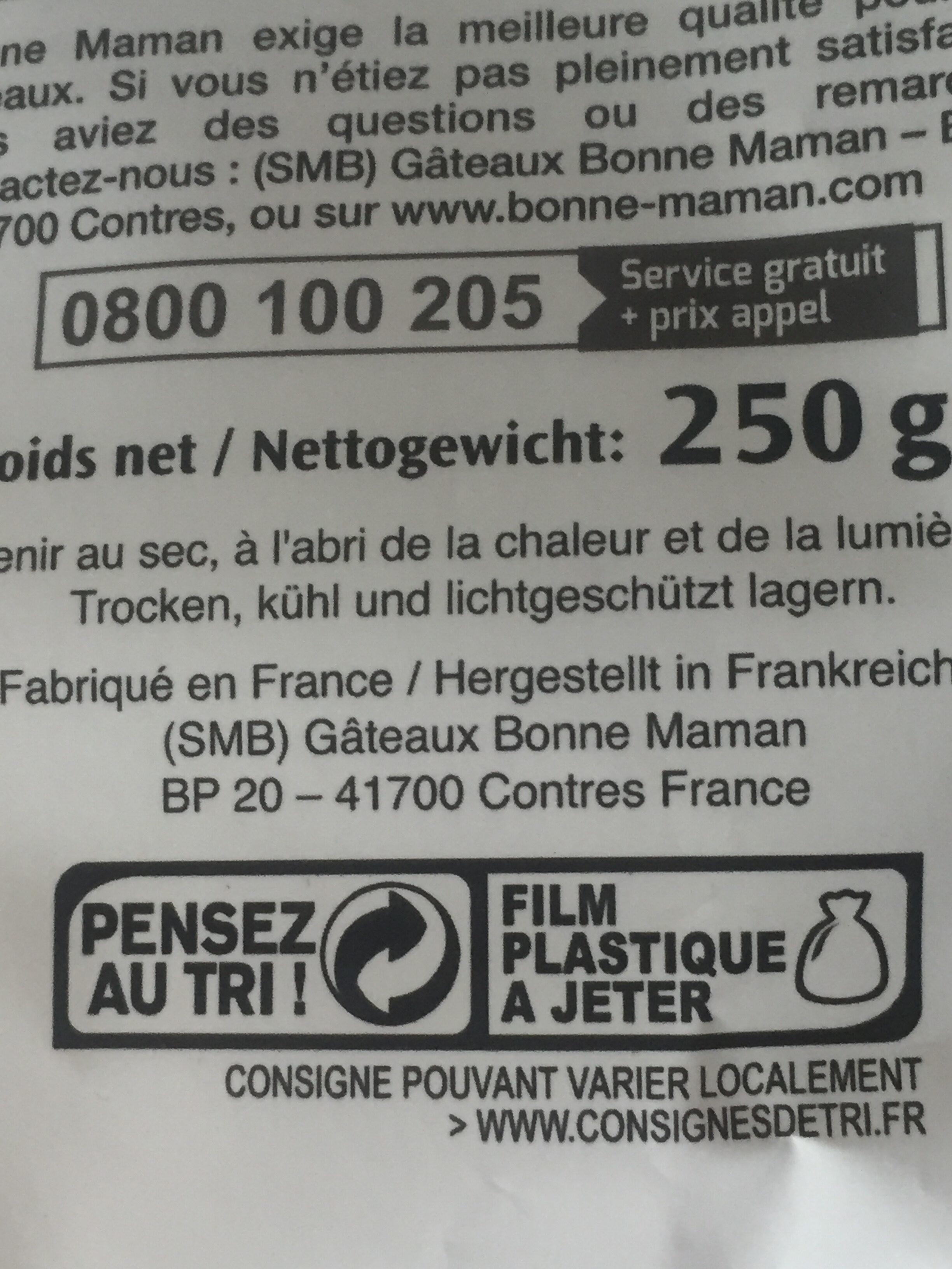 Financiers Amandes - Instruction de recyclage et/ou informations d'emballage - fr
