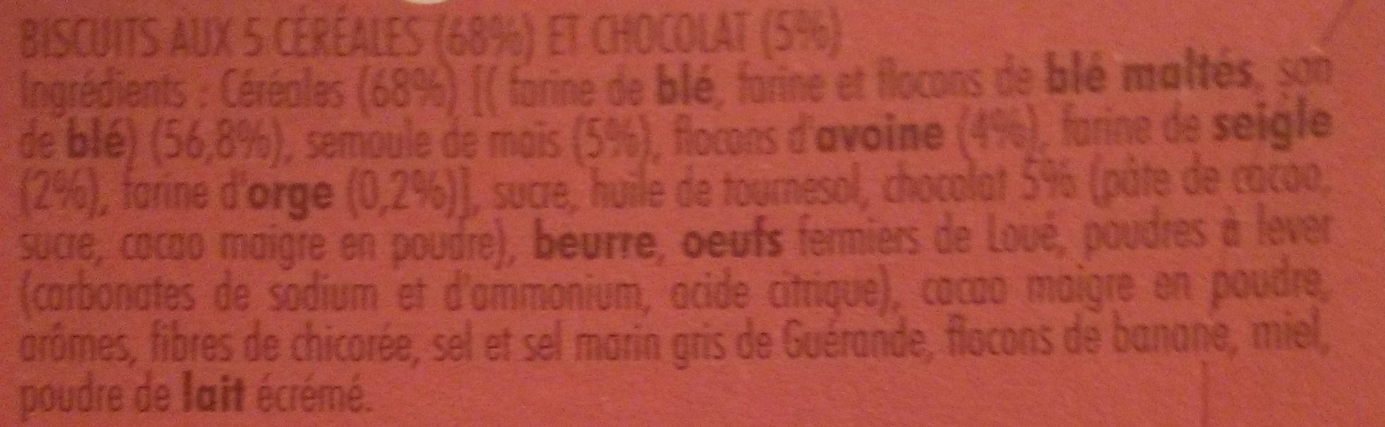 Cocottes Petit Déj Chocolat & 5 céréales - Ingrediënten
