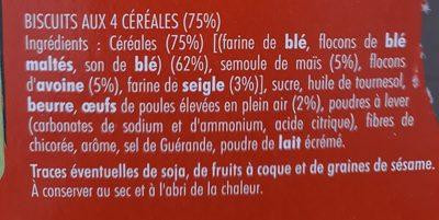 Cocottes petit dej 4 céréales - Ingrediënten - fr