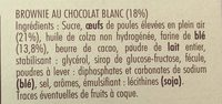 Le brownie blanc - Ingredients