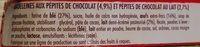 Madeleines Pépites Chocolat - Ingrédients