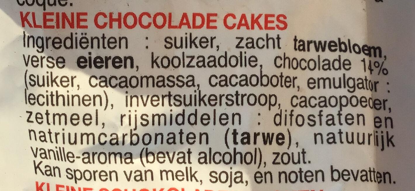 Petits muffins au chocolat - Ingrediënten - nl