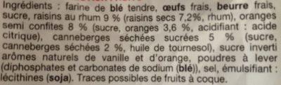 Petits cakes aux fruits - Ingrediënten - fr