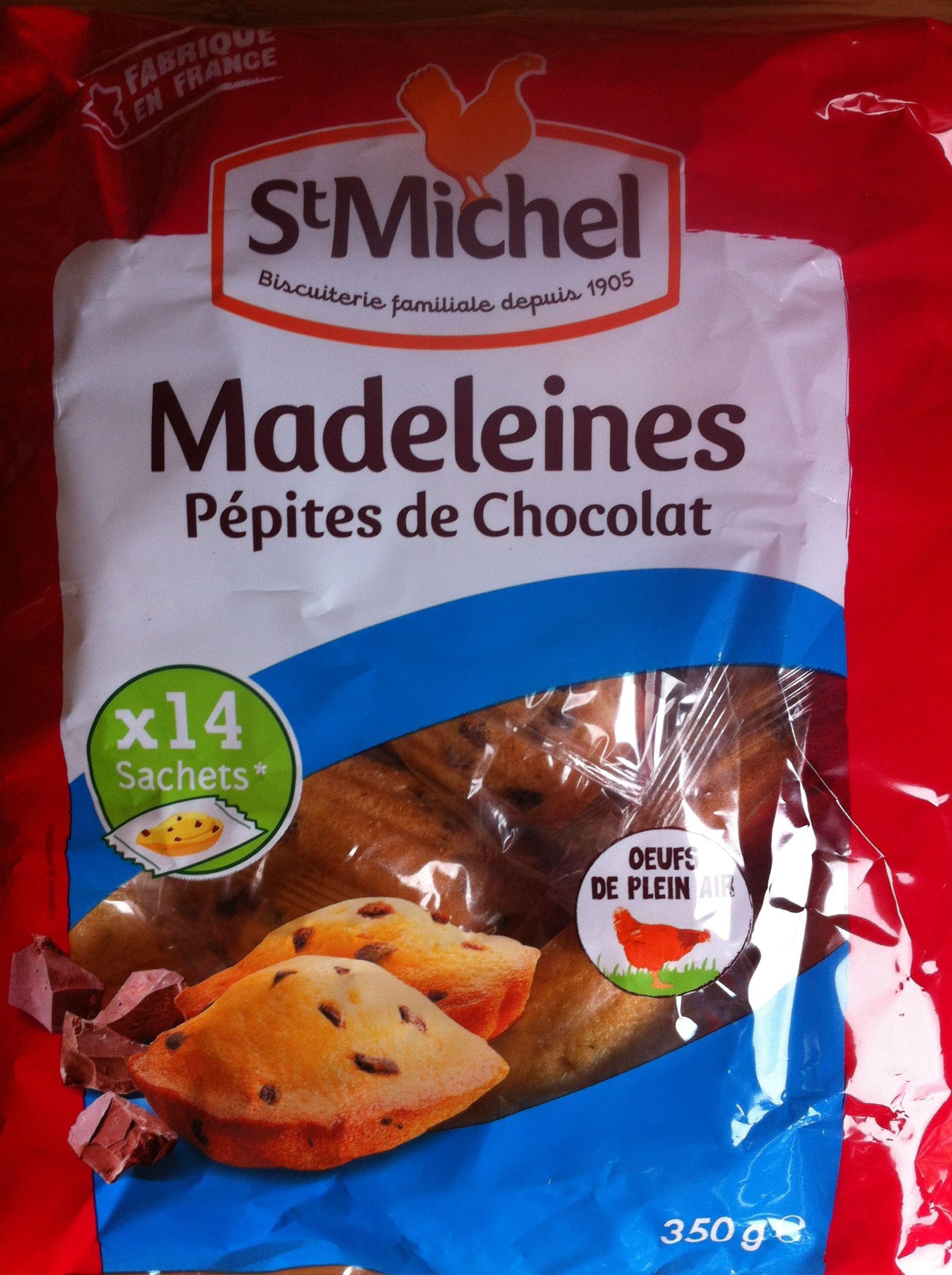 Madeleines pépites de chocolat - Product