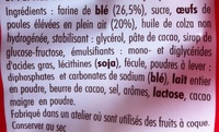Madeleines pépites de chocolat - Ingredients