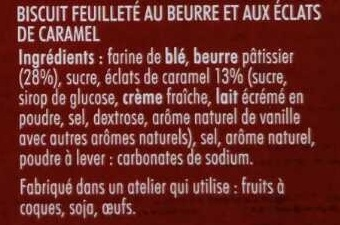 Palmier Caramel au Beurre - Ingredients - fr