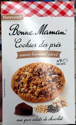 Cookies des prés Sésame Tournesol Pavot aux gros éclats de chocolat - Product