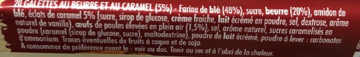 Galettes Tout au Beurre Éclats de Caramel - Ingrédients - fr