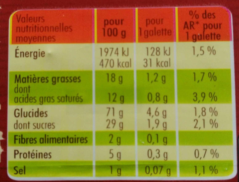Galettes Tout au Beurre Éclats de Caramel - Informations nutritionnelles - fr