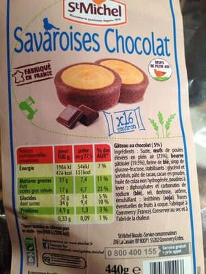 Savaroises Chocolat - Product - fr