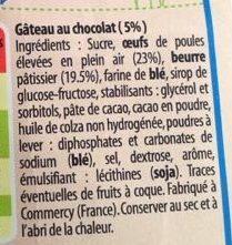 Savaroises Chocolat - Ingrediënten - fr