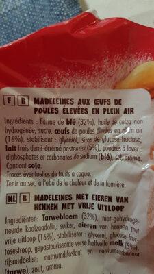 Petites madeleines - Zutaten - fr