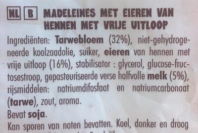 Petites madeleines - Ingrediënten - nl