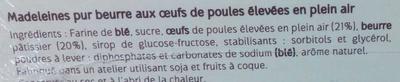 Madeleines Recette de Commercy - Ingredients