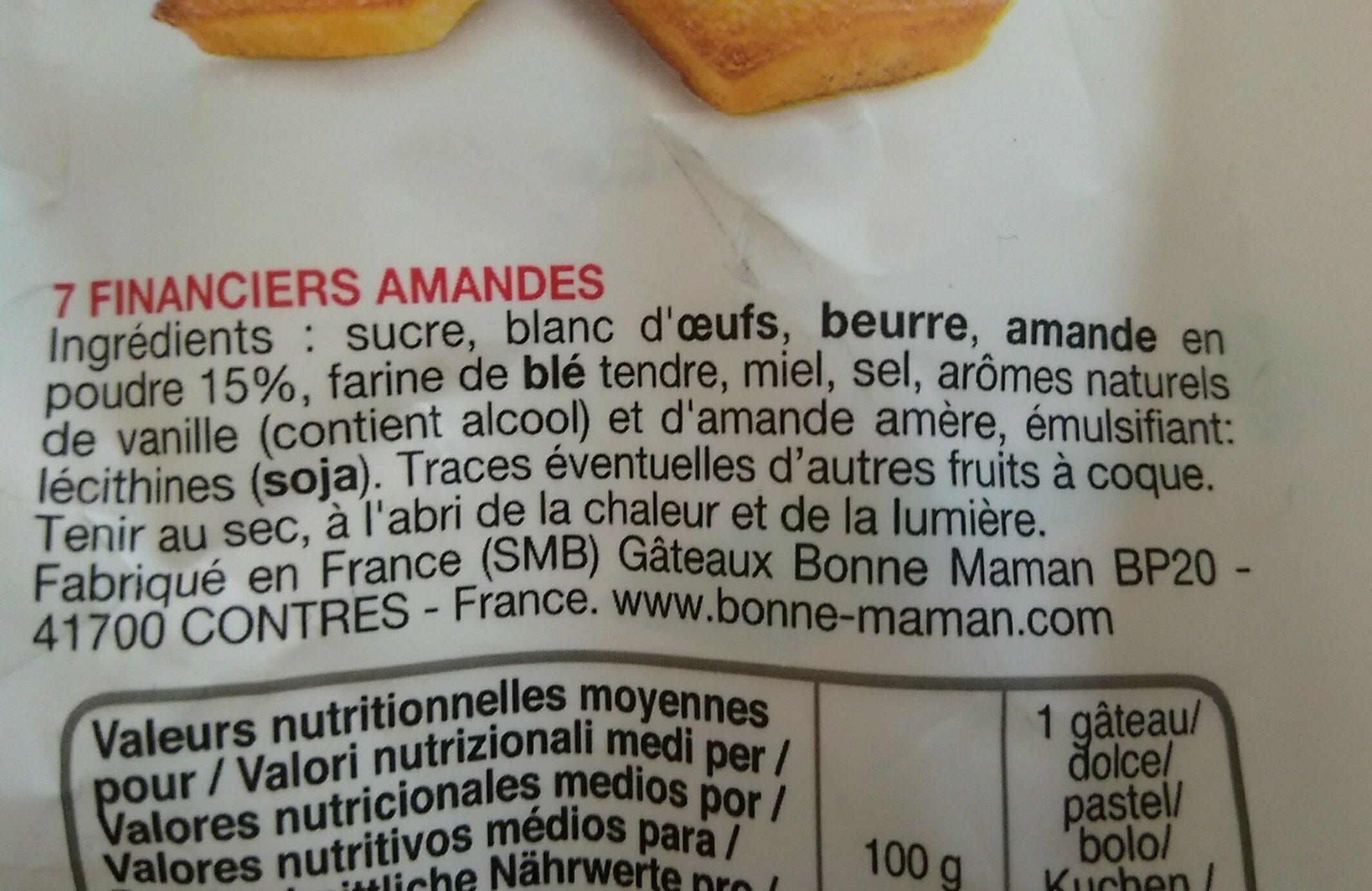 Almond Fanciers - Ingredienti - fr