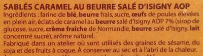 Sablés pépites de caramel au beurre salé d'Isigny AOP - Ingrédients - fr