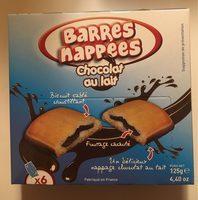 Barres nappées chocolat au lait - Product - fr
