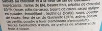 Le Sablé très chocolat Fleur de sel de Guérande - Ingrédients - fr