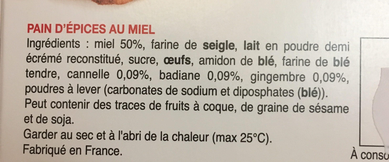 Le Pain d Épices au Miel - Ingrédients