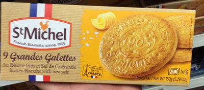 9 Grandes Galettes au beurre frais et sel de Guérande - Produit