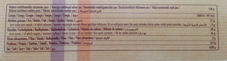 9 Grandes Galettes au beurre frais et sel de Guérande - Informations nutritionnelles - fr