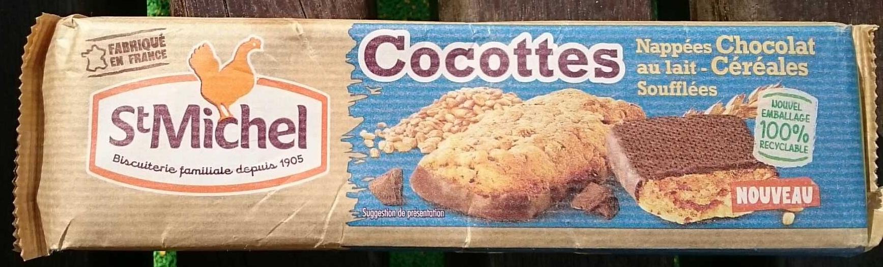 Cocottes nappées chocolat au lait - céréales soufflées - Produit - fr