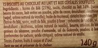 Cocottes nappées chocolat au lait - céréales soufflées - Ingrédients - fr
