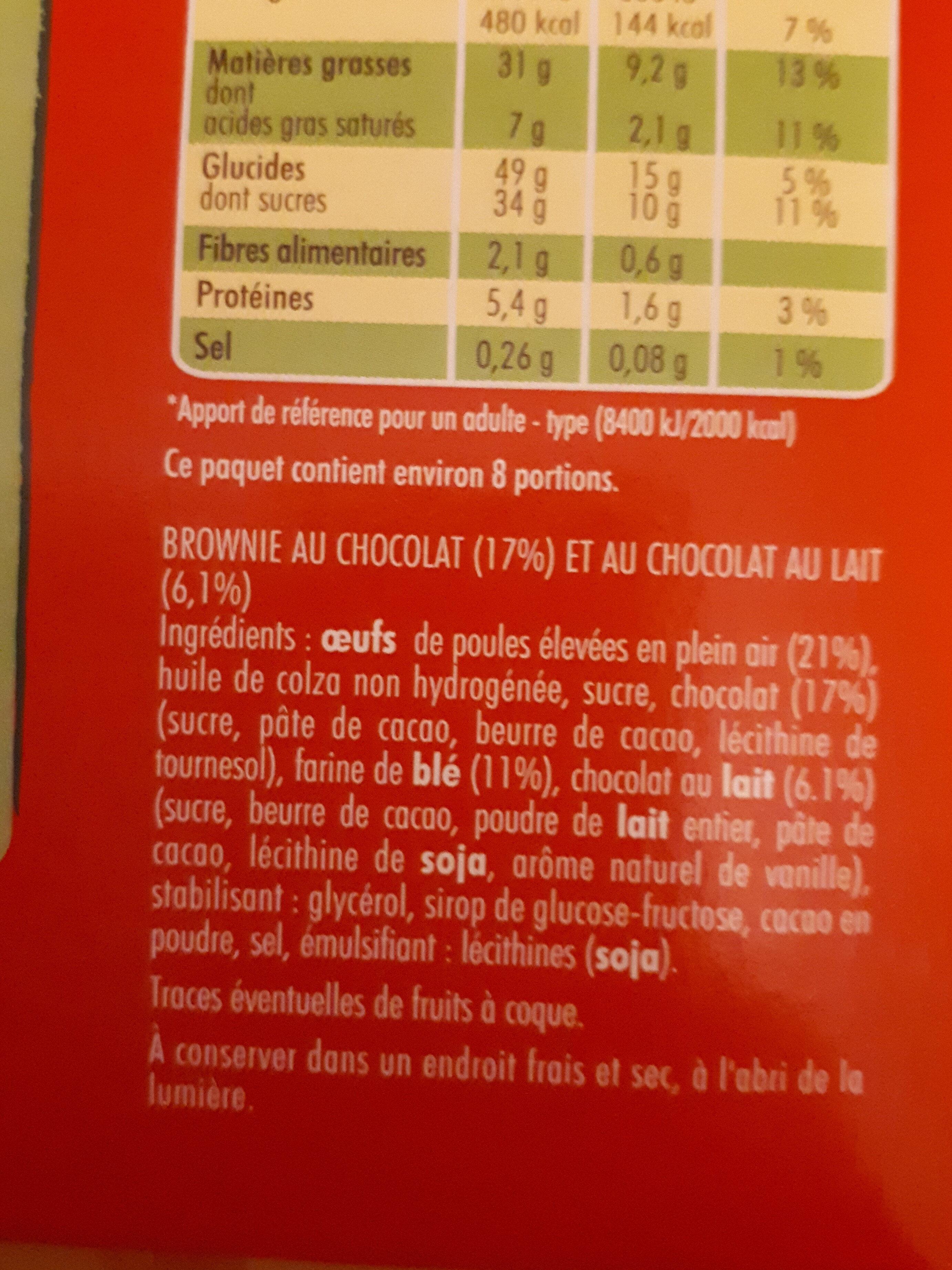 BROWNIE CHOCOLAT INDIV - Ingrédients - fr