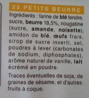 Petits beurre - Ingredienti - fr