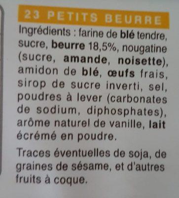 Petits beurre - Ingredients