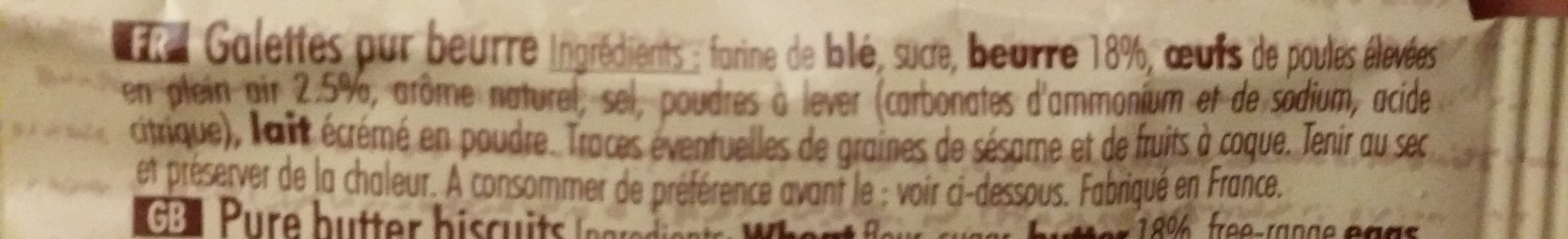 Galette - Ingrediënten - fr