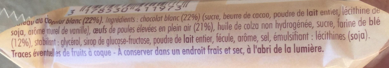 Mini Brownie Blanc - Ingredients - fr