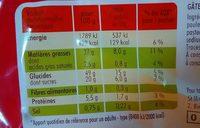 Gateau moelleux au lait frais st michel - Informations nutritionnelles