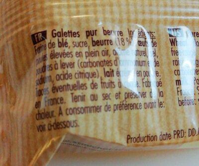8 galettes - Ingrediënten