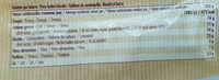 8 galettes - Voedingswaarden